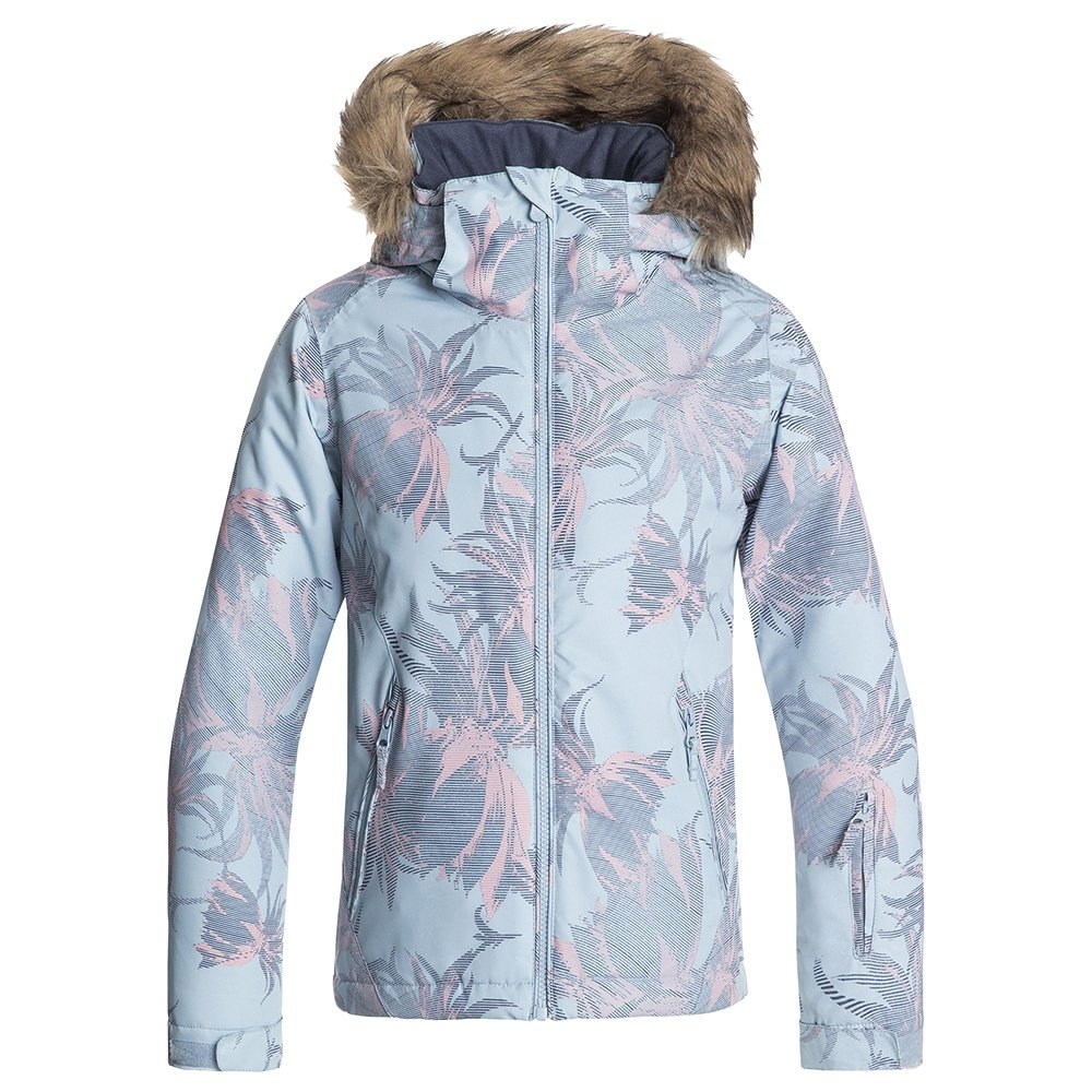 Roxy American Pie Insulated Snowboard Jacket (Girls') - Powder Blue/Swell Flowers Girl