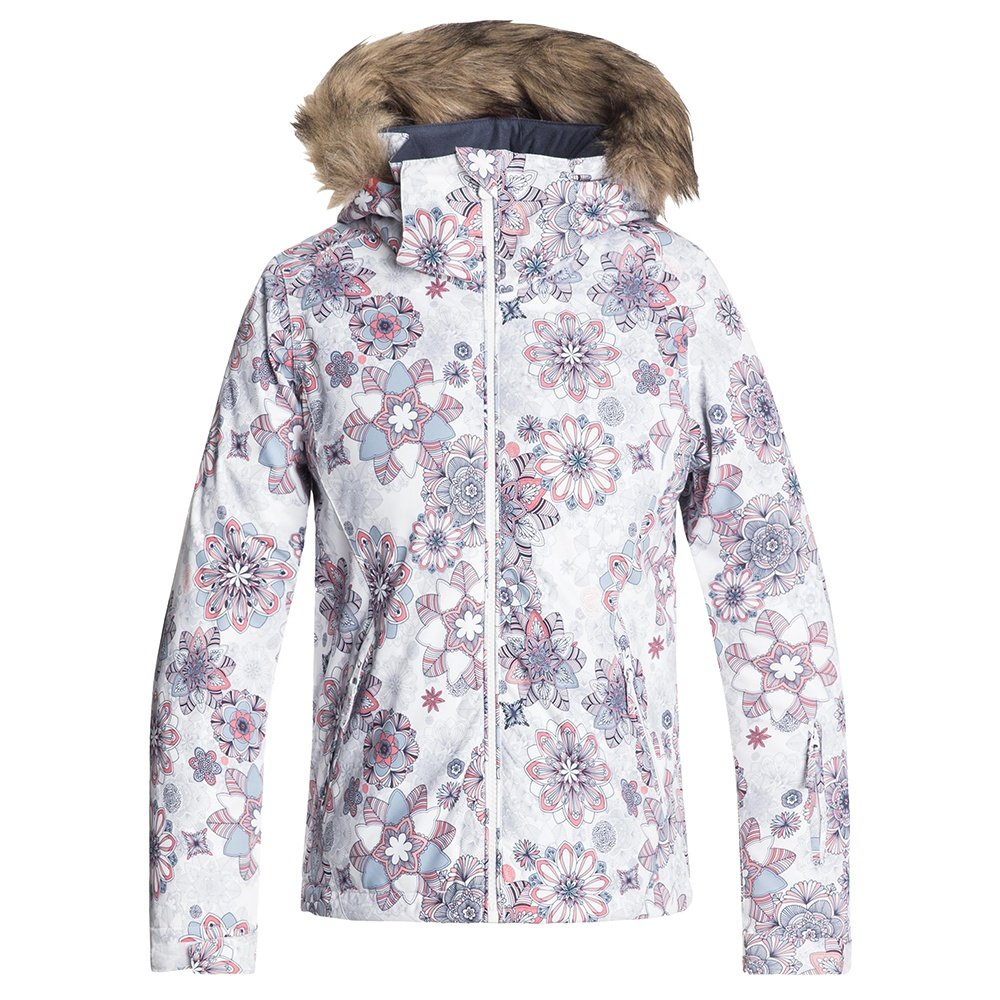 Roxy American Pie Insulated Snowboard Jacket (Girls') - Bright White/Snowflakes