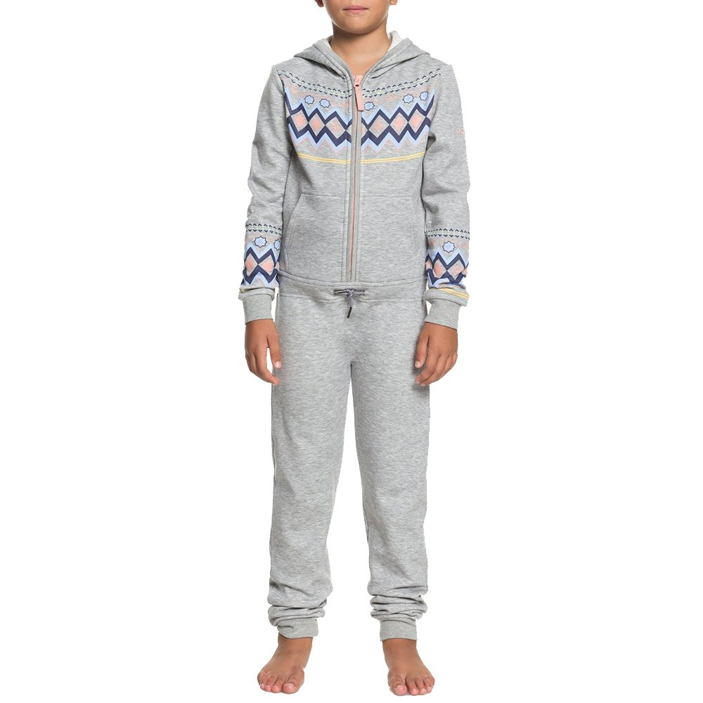 Roxy Cozy Up One Piece Fleece (Girls') - Warm Heather Grey