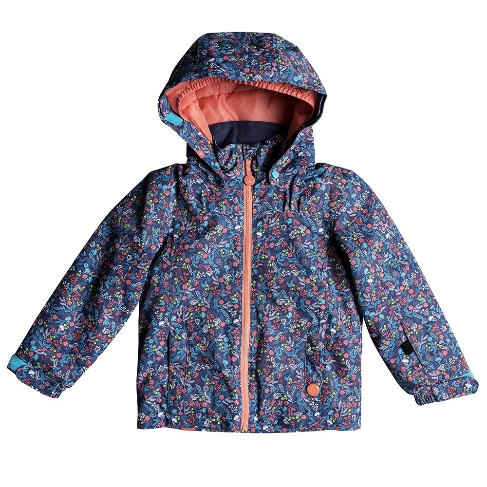 Roxy Mini Jetty Insulated Snowboard Jacket (Little Girls') - Bachelor Button/Rumba Ditsy