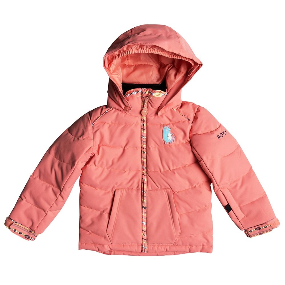 Roxy Anna Insulated Snowboard Jacket (Little Girls') - Shell Pink