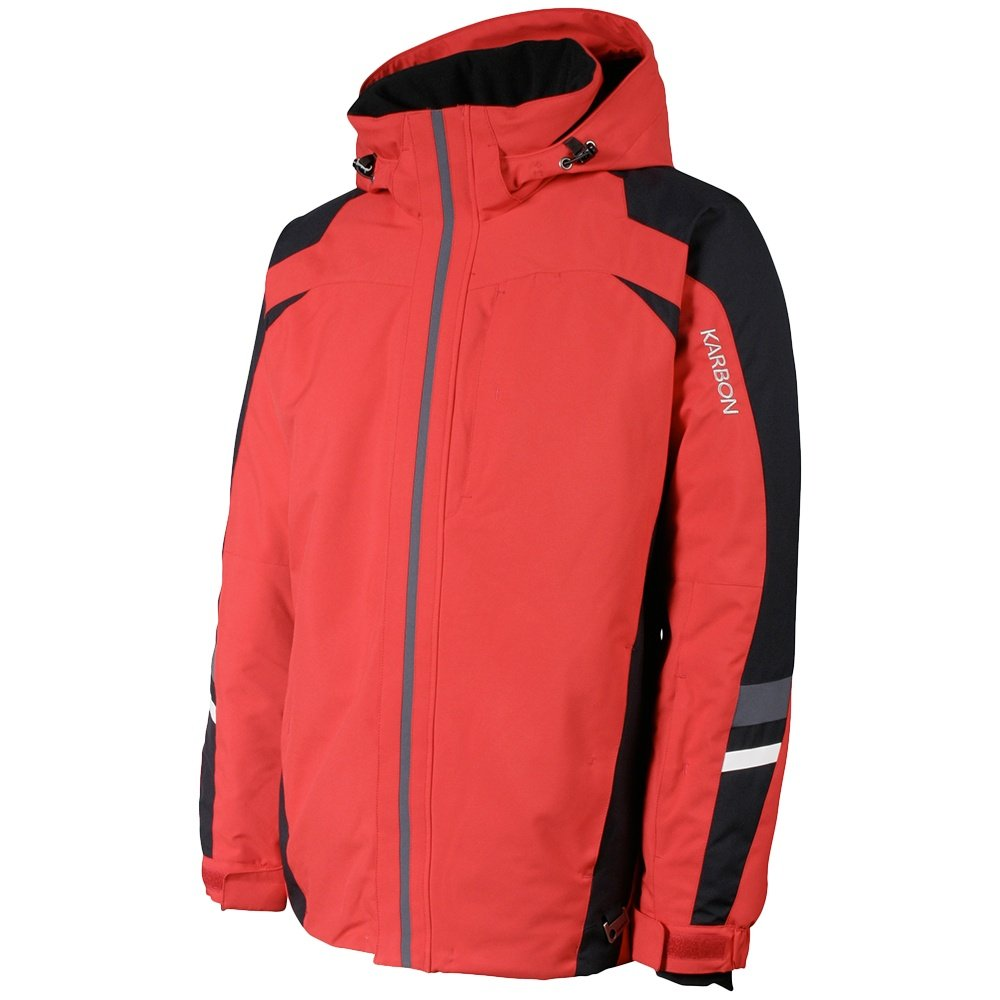 Karbon Pluto Insulated Ski Jacket (Men's) - Red/Black/Charcoal