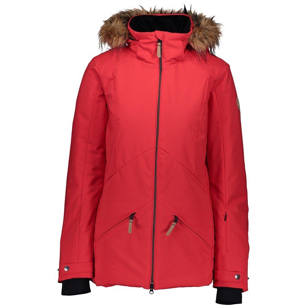 Obermeyer Siren Insulated Ski Jacket with Faux Fur (Women's) - Pop Pop Poppy