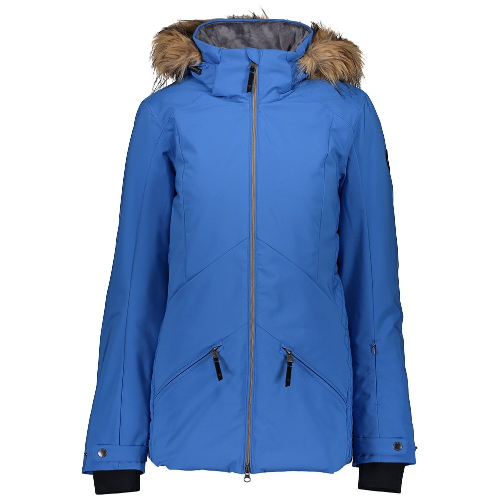 Obermeyer Siren Insulated Ski Jacket with Faux Fur (Women's) - Heaven Sent Me Blue