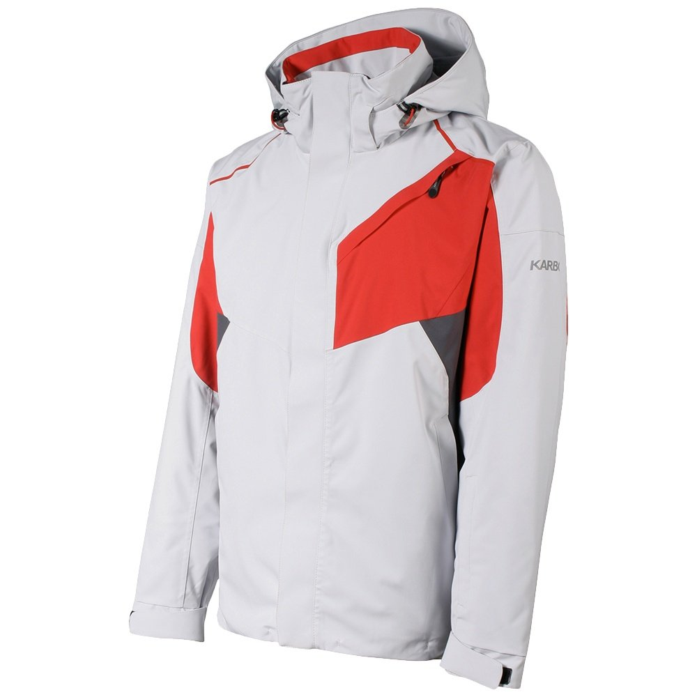 Karbon Aluminum Insulated Ski Jacket (Men's) - Glacier/Red/Anvil