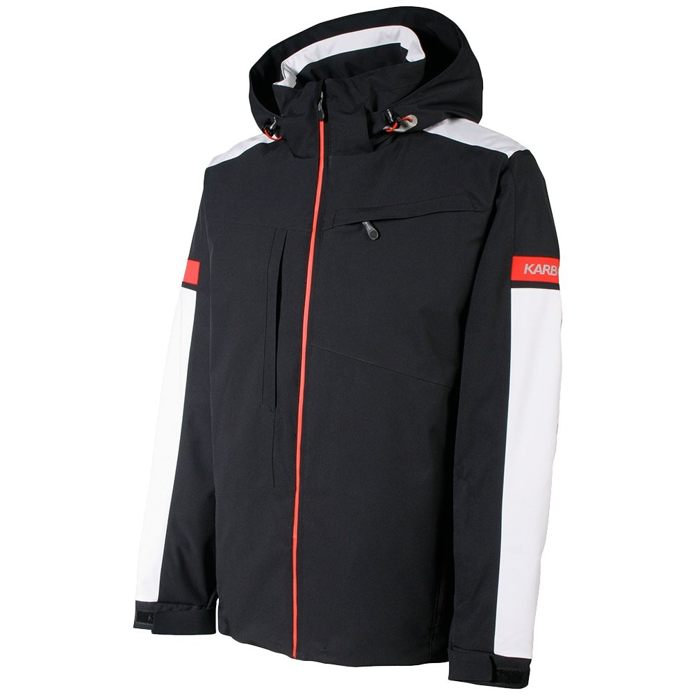 Karbon Neon Insulated Ski Jacket (Men's) - Black/Glacier/Red