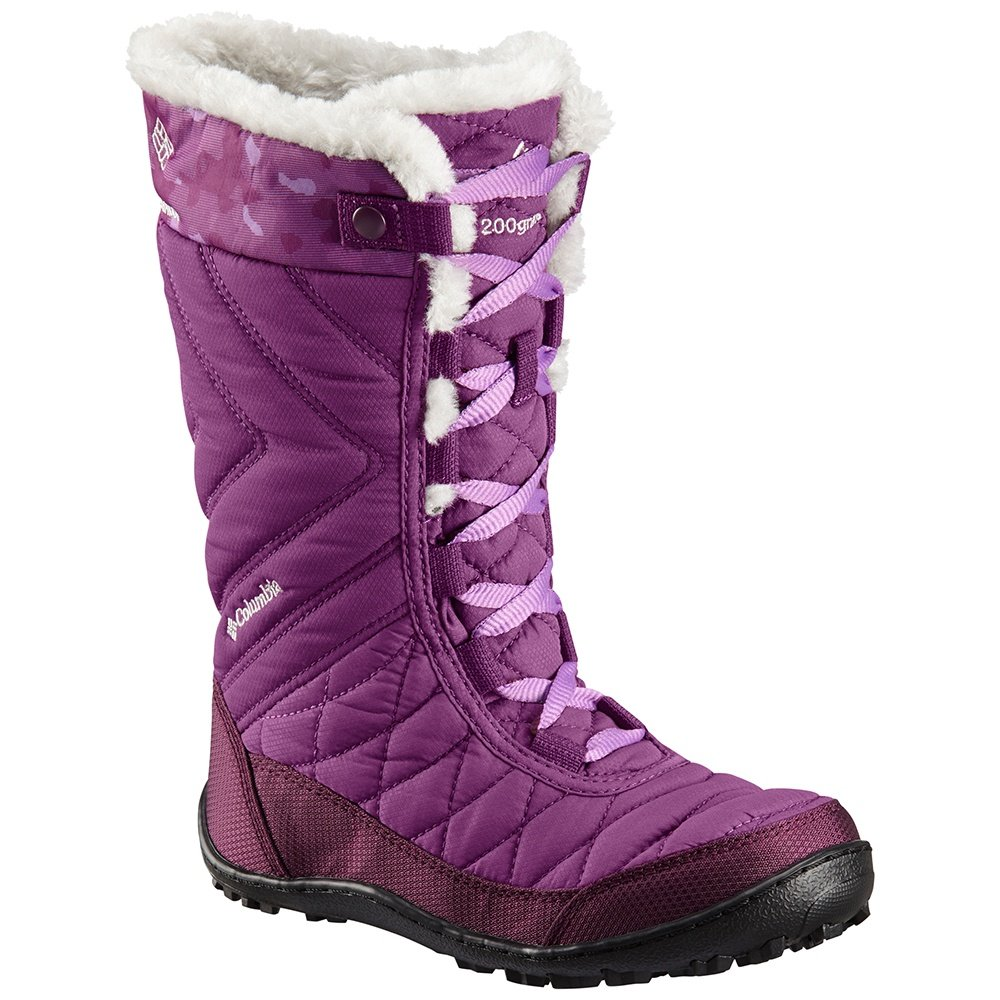 Columbia Minx Mid III Omni-Heat Waterproof Boot (Girls') - Plum/Crown Jewel