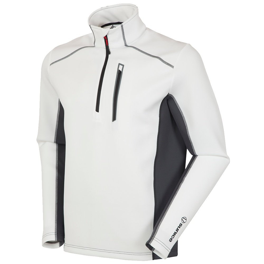 Sunice Patrol Pullover Turtleneck Mid-Layer (Men's) - White