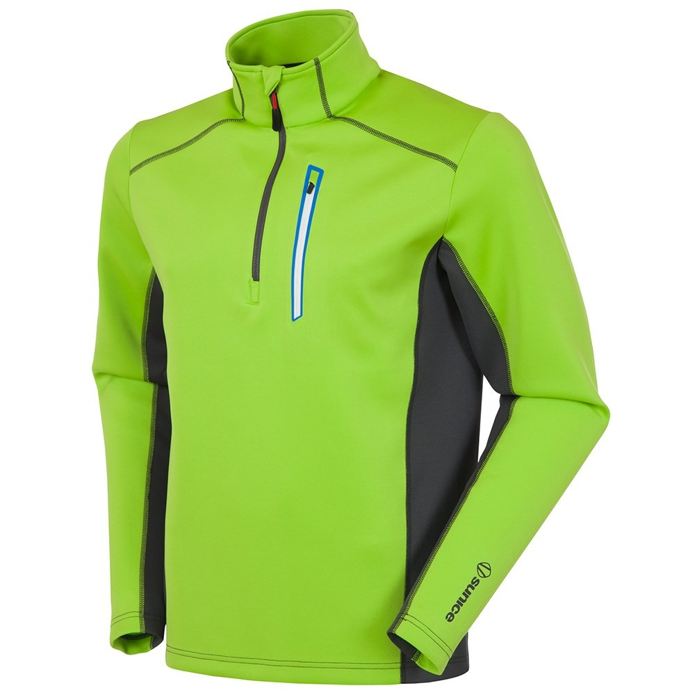 Sunice Patrol Pullover Turtleneck Mid-Layer (Men's) - Lime