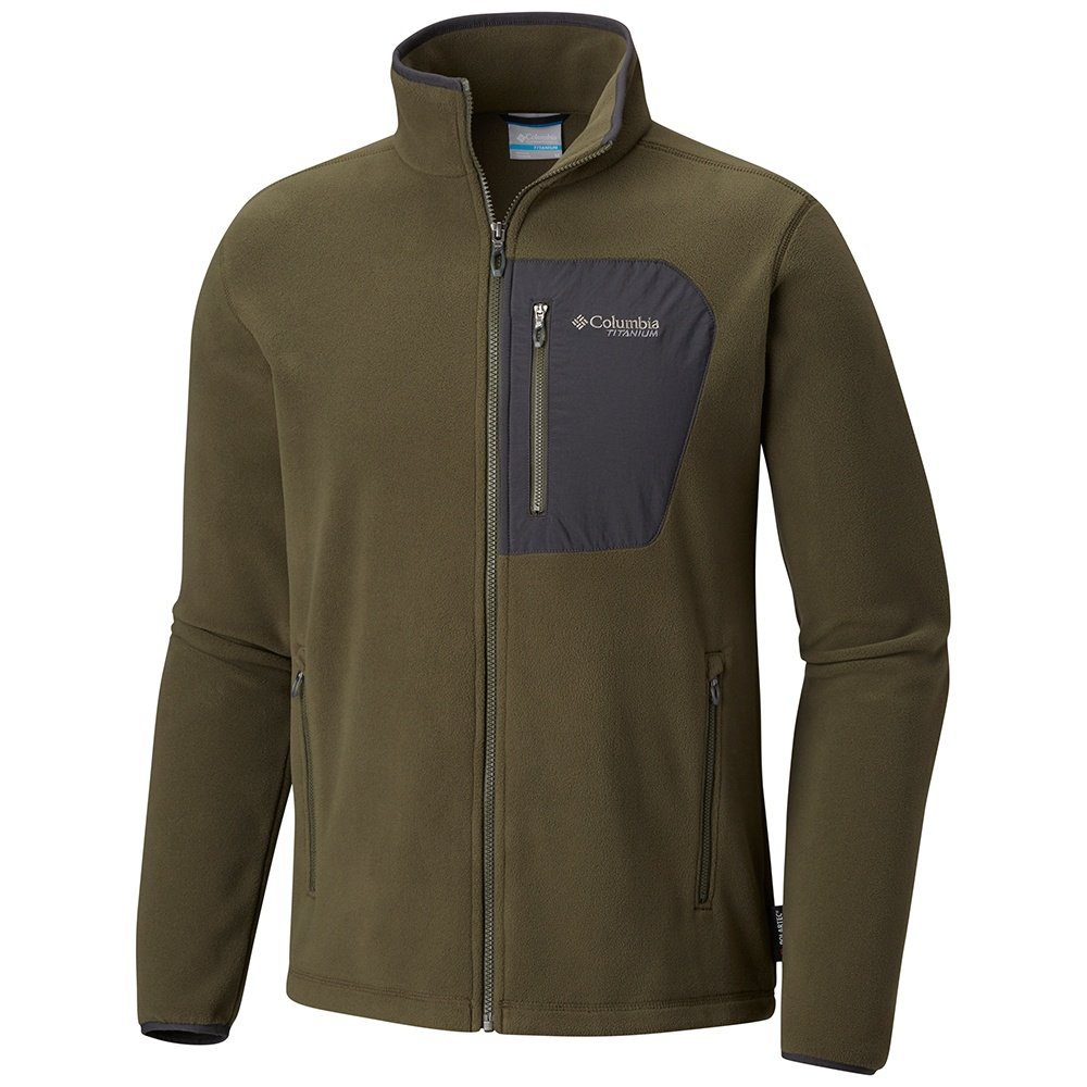 Columbia Titan Pass 2 Fleece Jacket (Men's) - Peatmoss/Shark