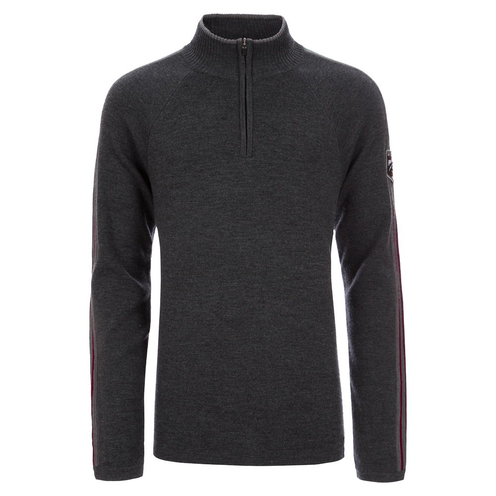 Meister Chase 1/4-Zip Sweater (Men's) - Charcoal Heather/Chili Red