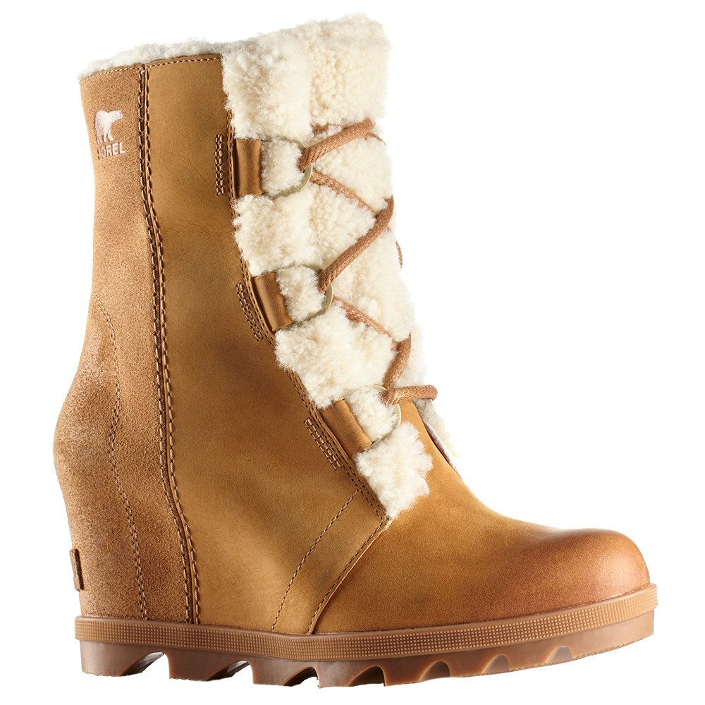 Sorel Joan of Arctic Wedge II Shearling Boot (Women's) - Camel Brown/Black