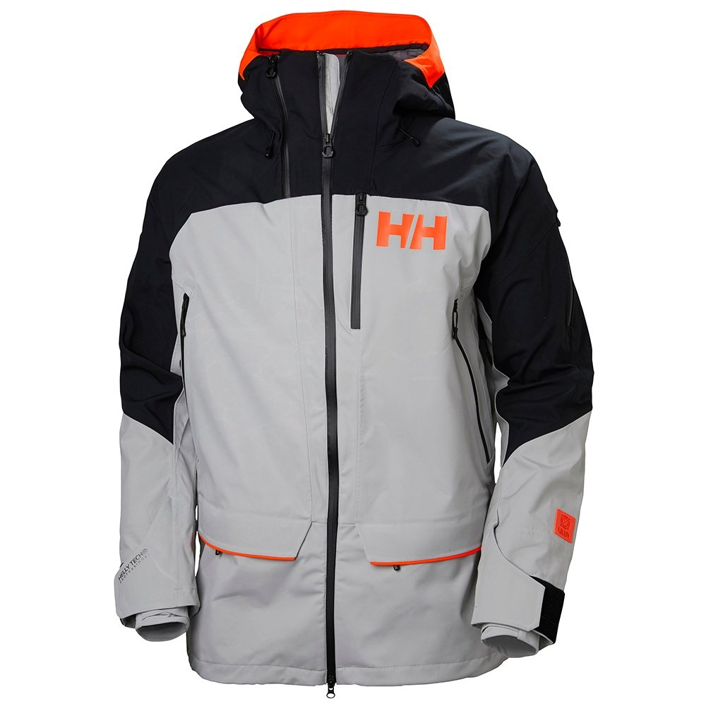 Helly Hansen Ridge 2.0 Shell Ski Jacket (Men's) - Light Grey/Black