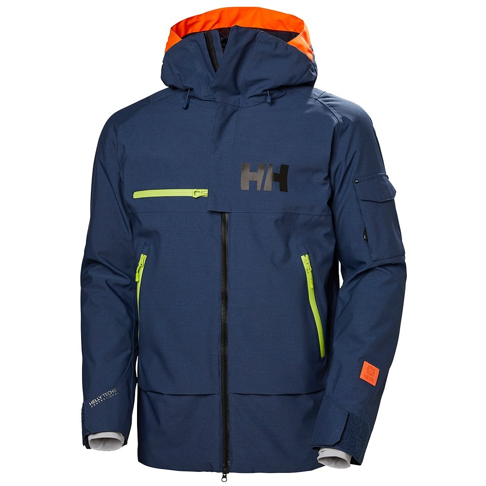 Helly Hansen Garibaldi Shell Ski Jacket (Men's) - North Sea Blue