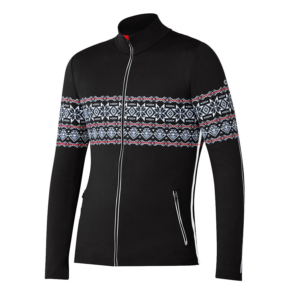 Newland Aries Full Zip Sweater (Men's) - Black/White