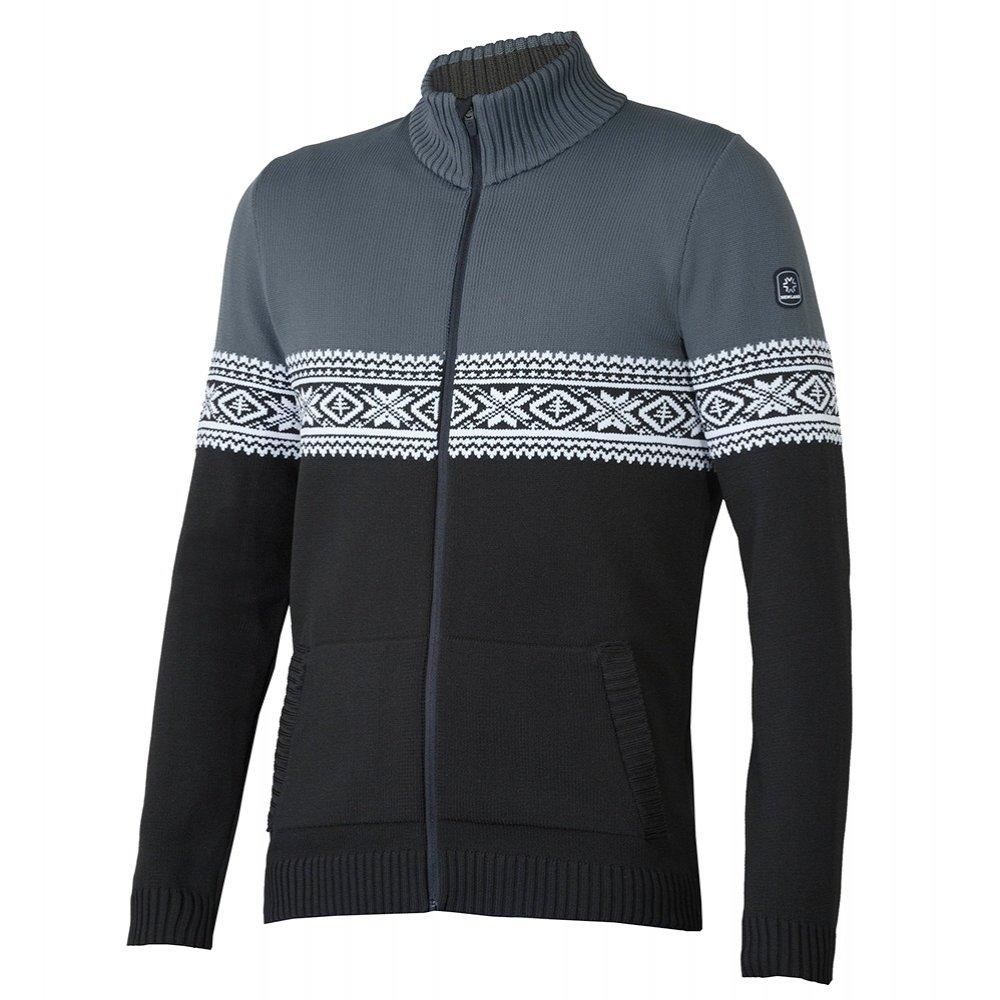 Newland Pegasus Full Zip Sweater (Men's) - Black/Dark Grey