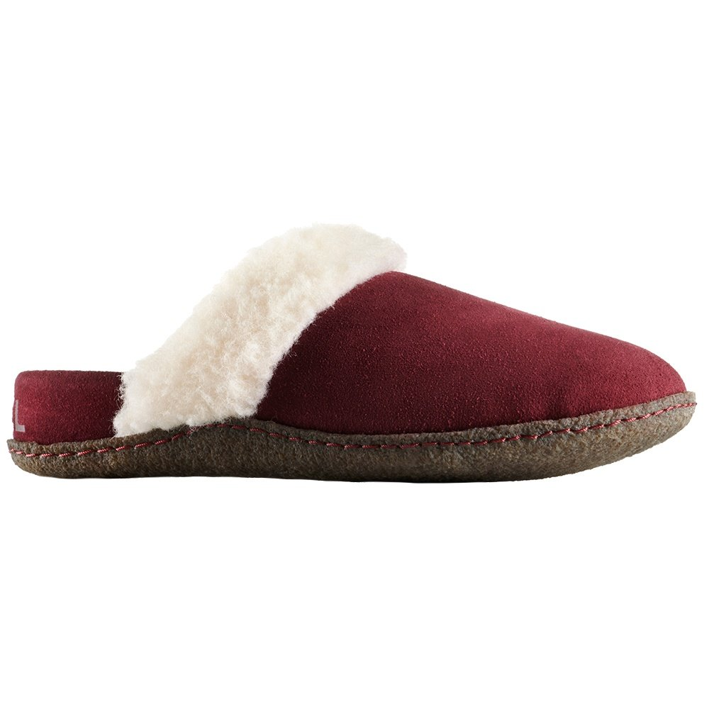 Sorel Nakiska Slide II Slipper (Women's) - Rich Wine/Natural