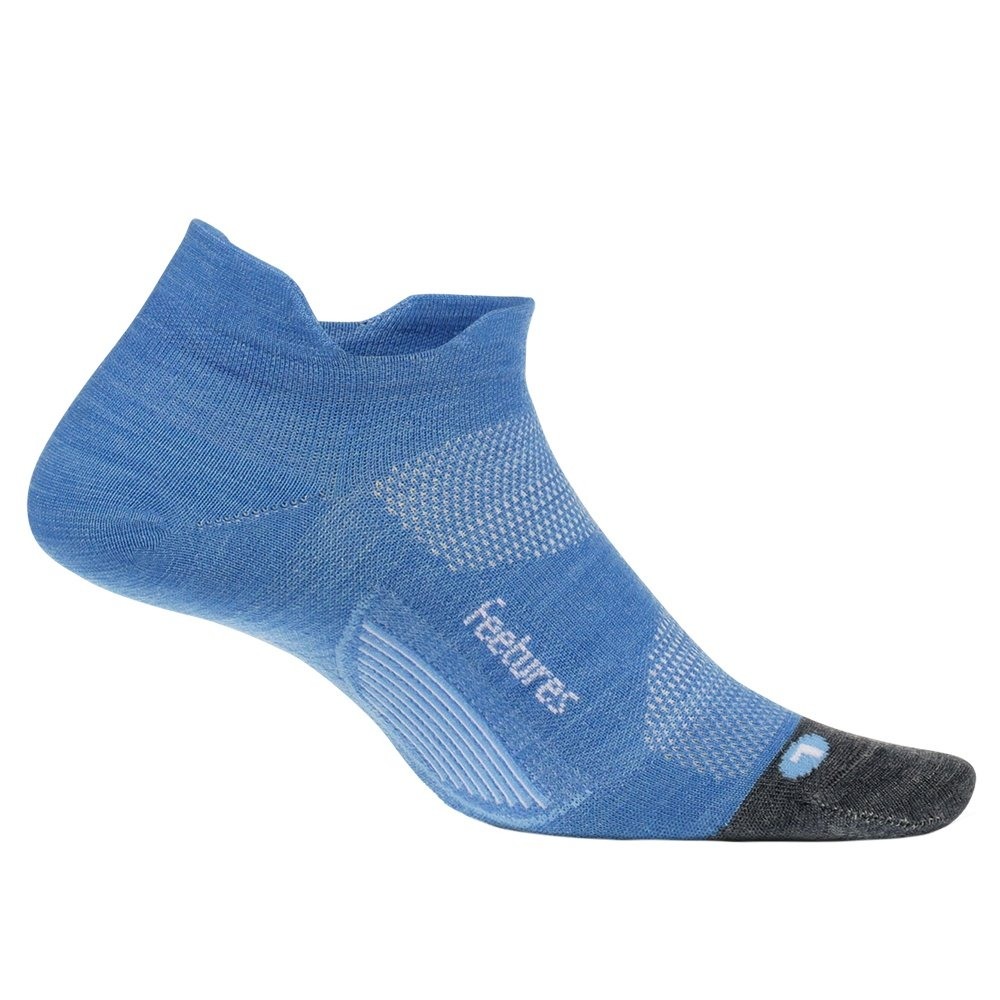 Feetures Merino 10 Ultra Light No Show Tab Running Sock (Adults') - Aurora Blue