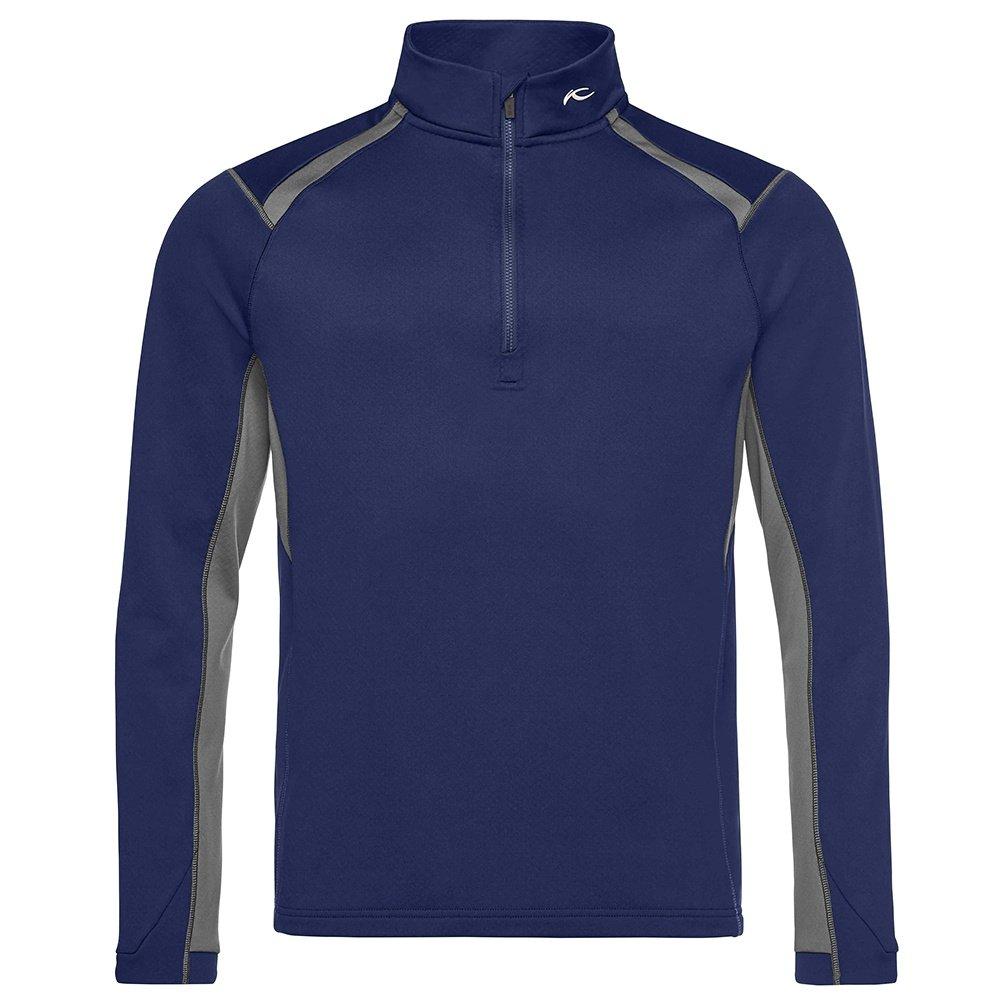KJUS Diamond 1/2-Zip Turtleneck Mid-Layer (Men's) - Atlanta Blue/Steel Grey