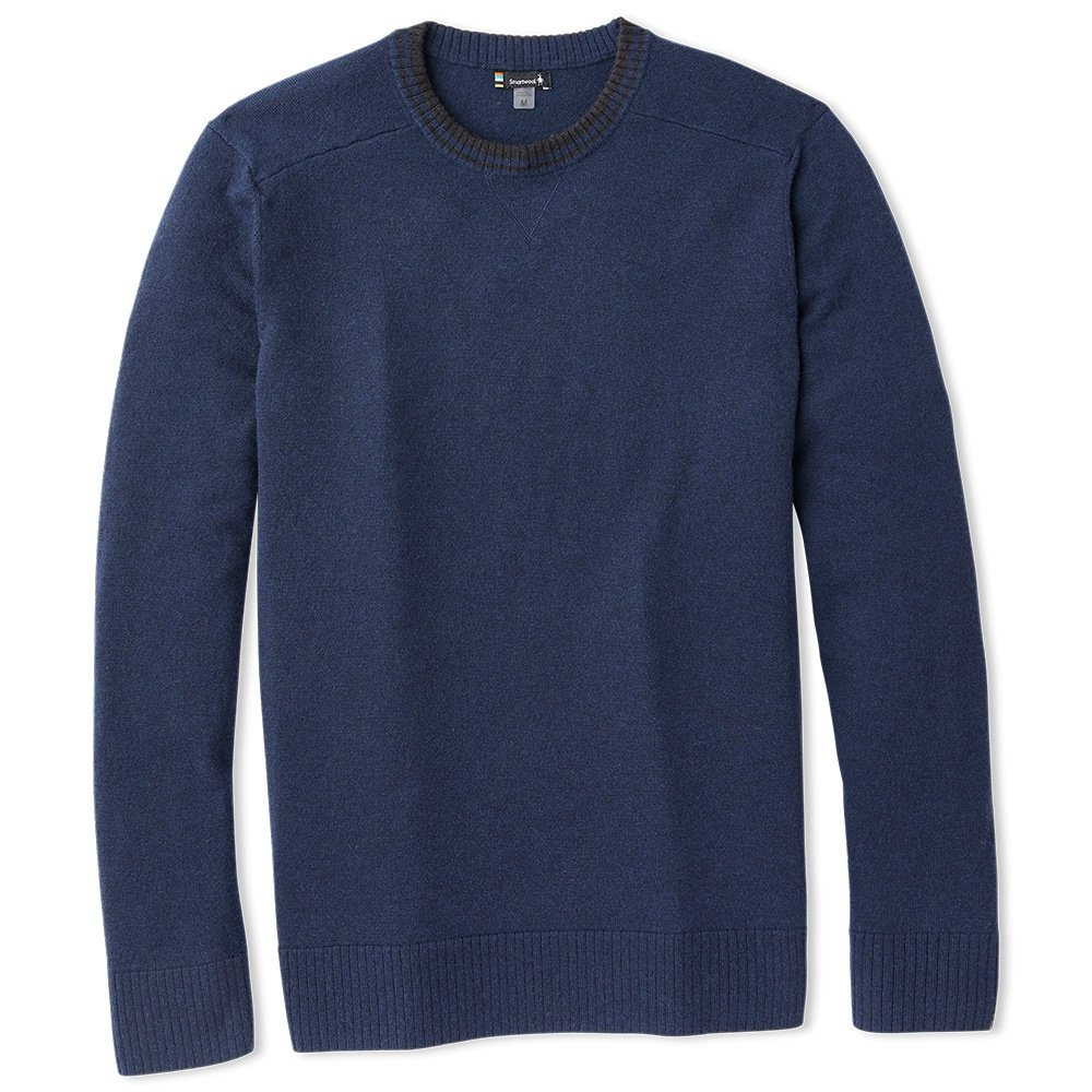 SmartWool Sparwood Crew Sweater (Men's) - Deep Navy/Charcoal Heather