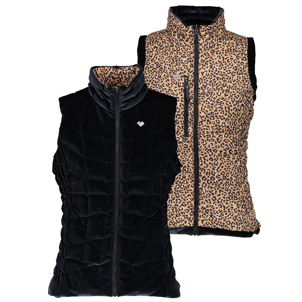 Obermeyer Soleil II Reversible Down Vest (Women's) - Safari Leopard Print