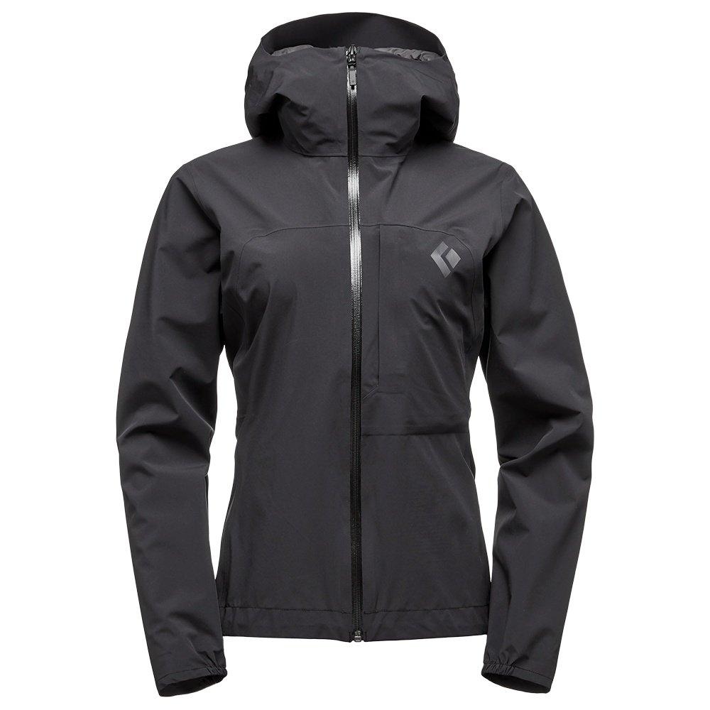 The Black Diamond FineLine Stretch Rain Shell Jacket (Women's) - Black