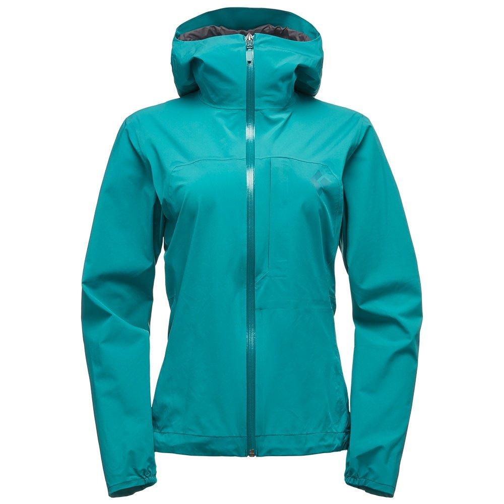 The Black Diamond FineLine Stretch Rain Shell Jacket (Women's) - Evergreen