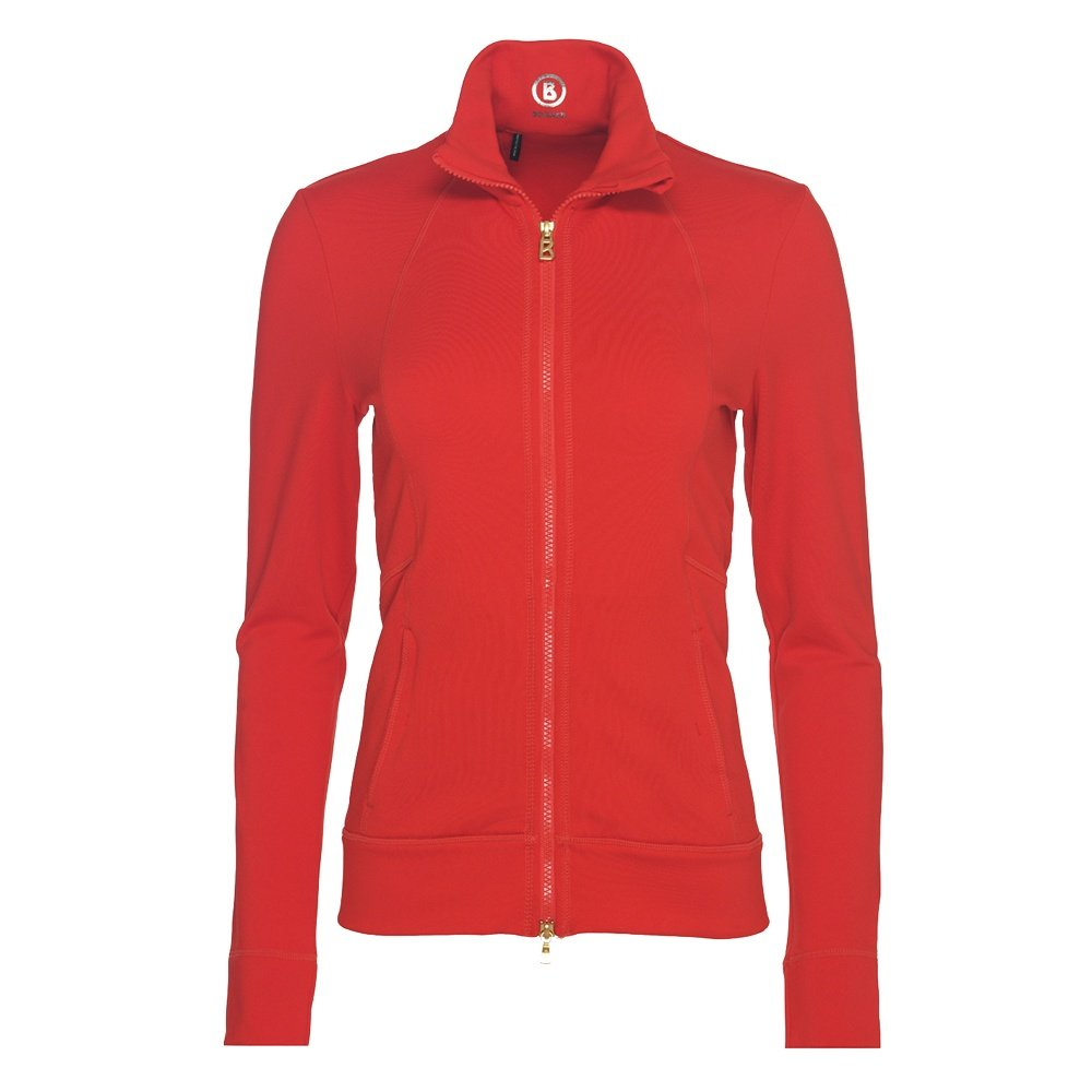 Bogner Coline Full Zip Sweater (Women's) - Lava Red