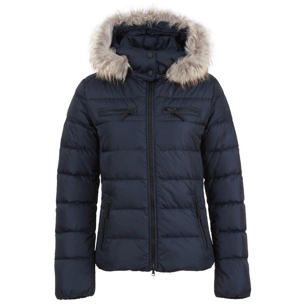 Bogner Fire + Ice Lela3-D Down Ski Jacket with Real Fur (Women's) - Midnight
