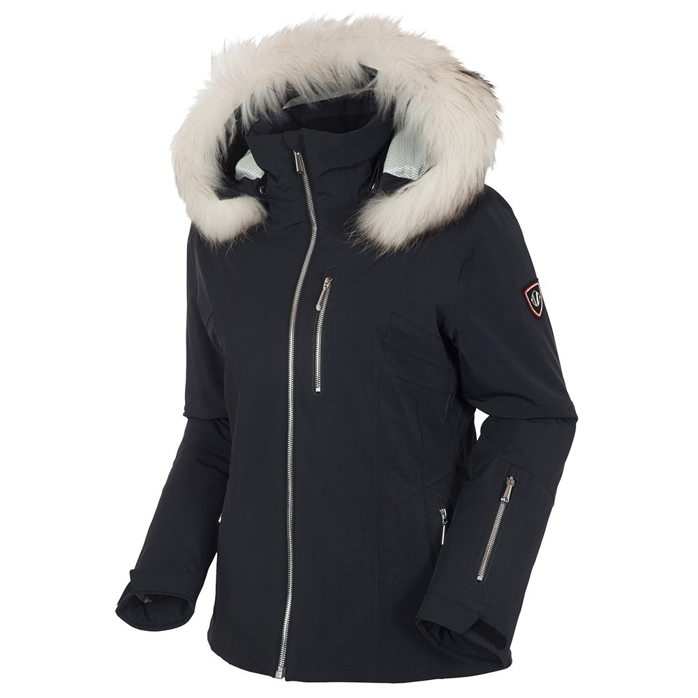 Sunice Eliora Insulated Ski Jacket with Real Fur (Women's) - Black