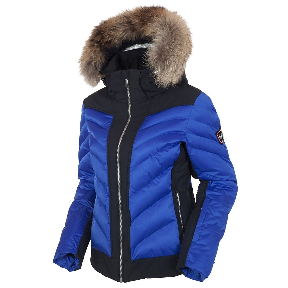 Sunice Neva Insulated Ski Jacket with Real Fur - Cobalt