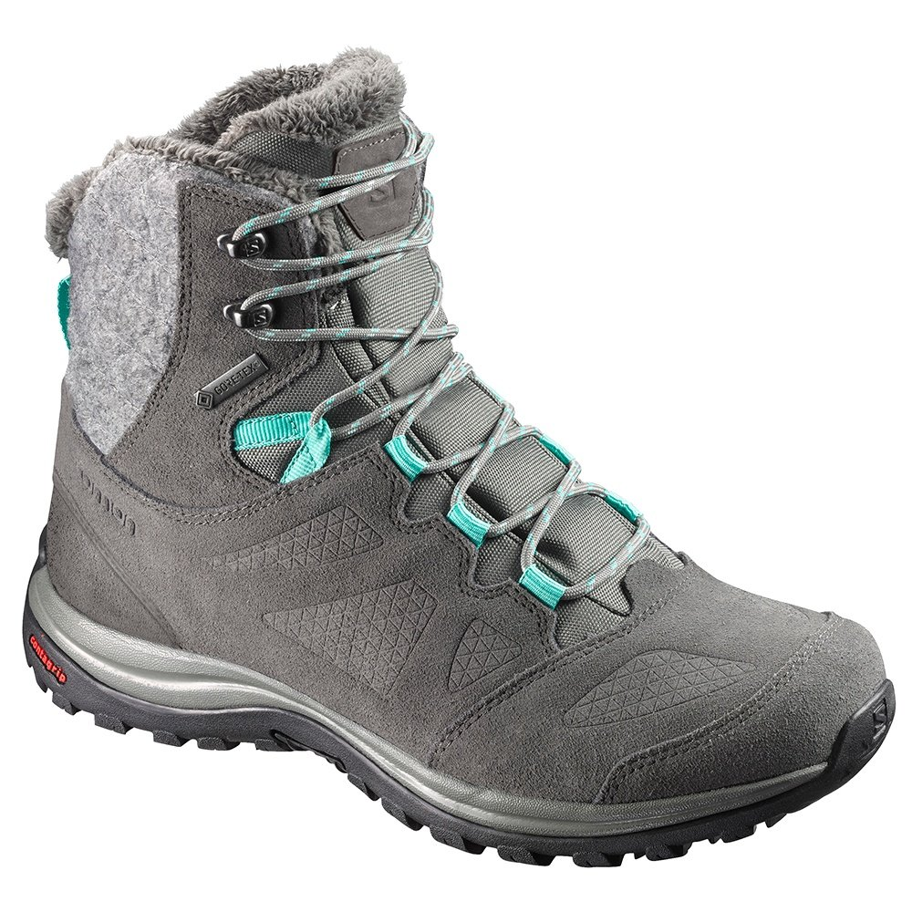Salomon Ellipse GORE TEX Boot (Women's) - Castor Gray/Beluga/Biscay Green