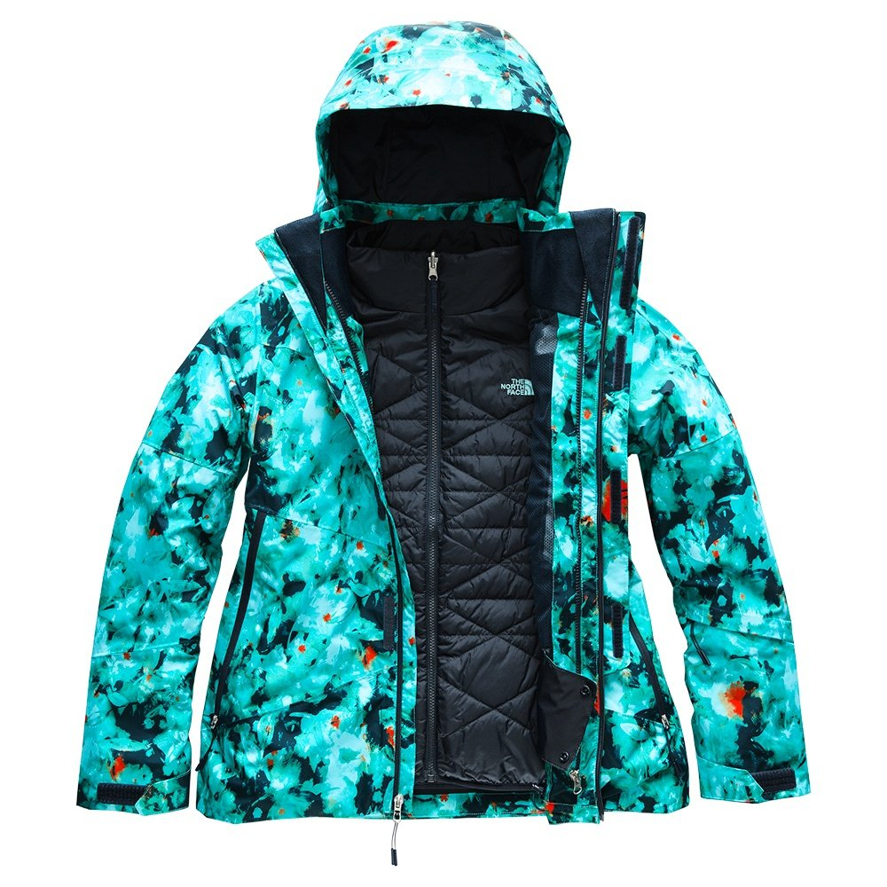 The North Face Garner Triclimate Ski Jacket (Women's) - Transantarctic Blue Snowfloral Print
