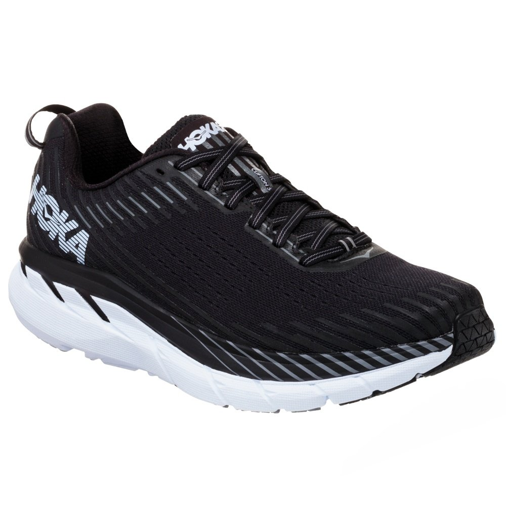 Hoka One One Clifton 5 Running Shoe (Men's) - Black/White
