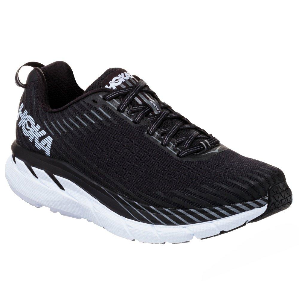 Hoka One One Clifton 5 Wide Running Shoe (Men's) - Black/White