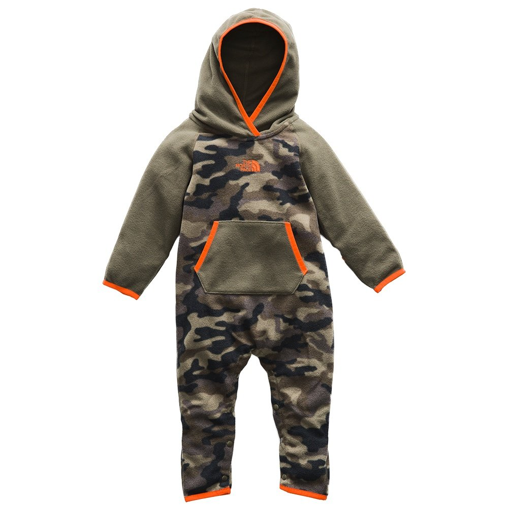 The North Face Glacier One Piece Bunting Suit (Toddlers') - New Taupe Green Camo Print