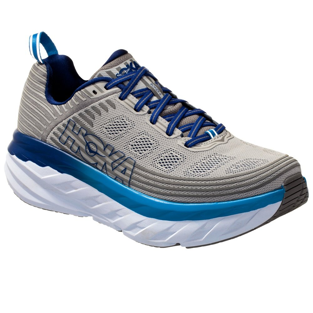 Hoka One One Bondi 6 Wide Running Shoe (Men's) - Vapor Blue/Frost Gray