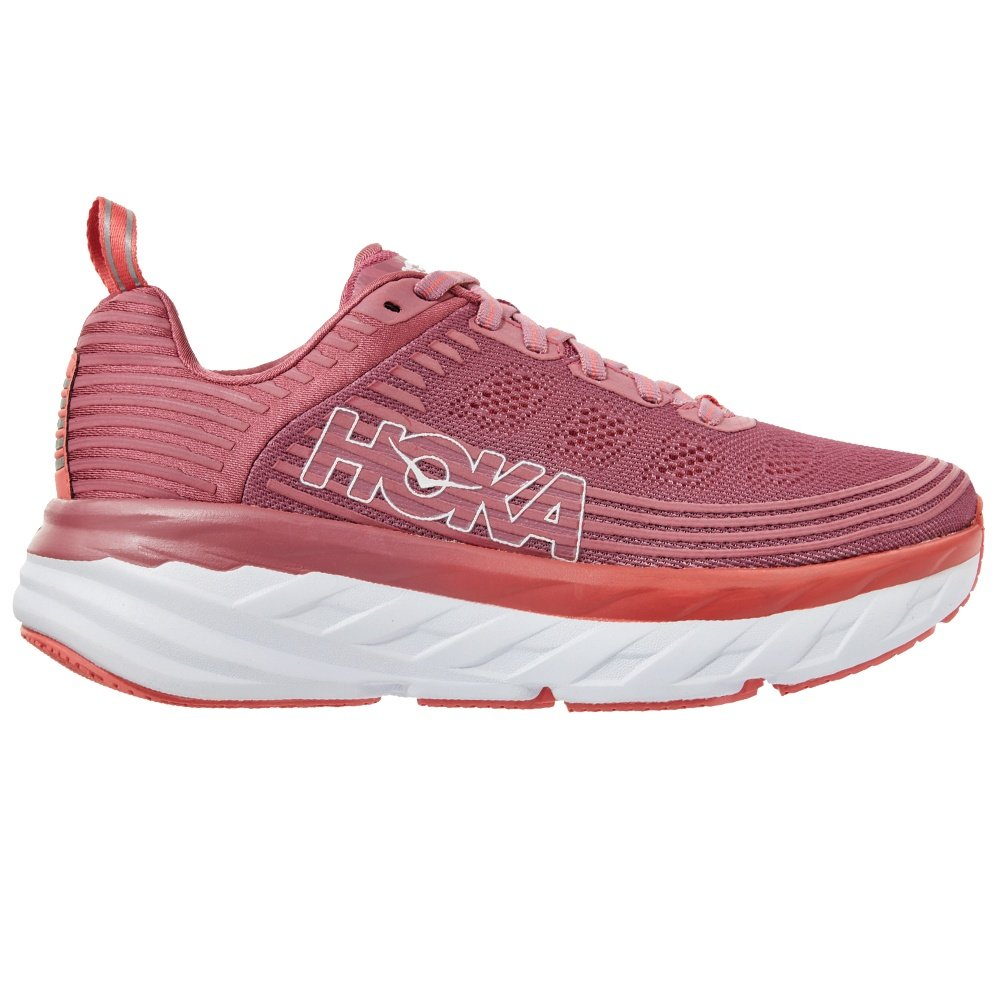 Hoka One One Bondi 6 Running Shoe (Women's) - Heather Rose/Lantana