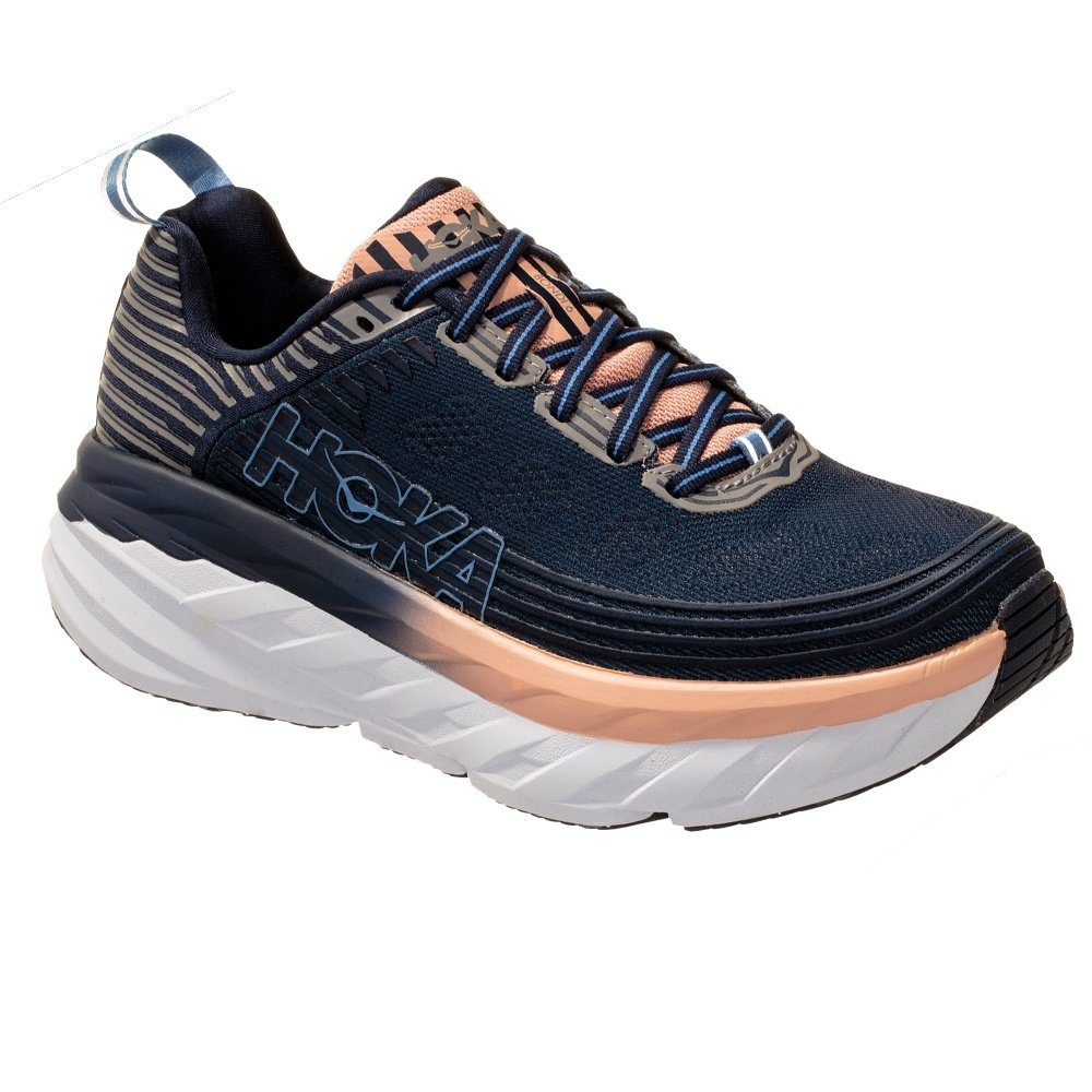 Hoka One One Bondi 6 Running Shoe (Women's) - Mood Indigo/Dusty Pink