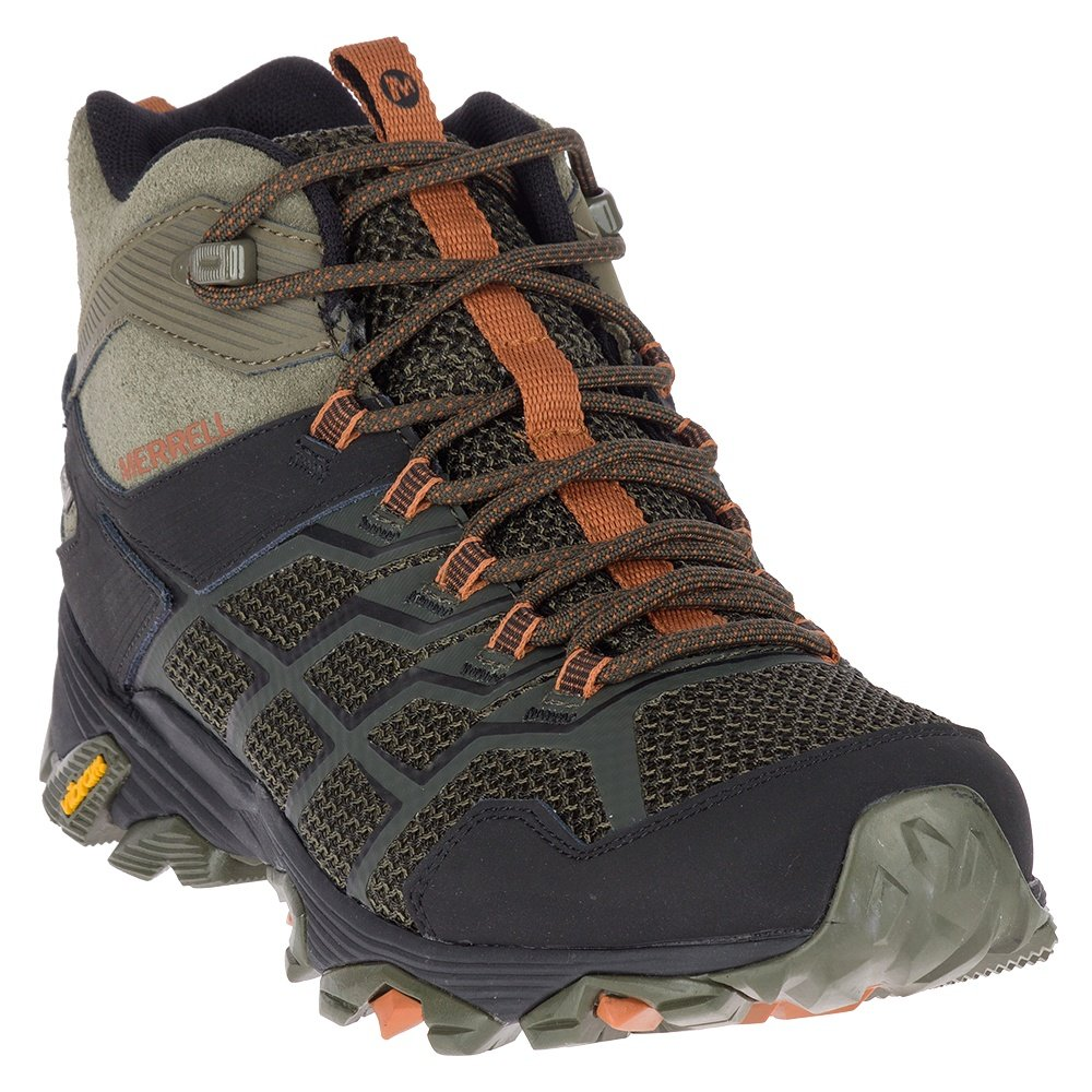 Merrell Moab FST Mid Waterproof Hiking Boot (Men's) - Olive/Adobe