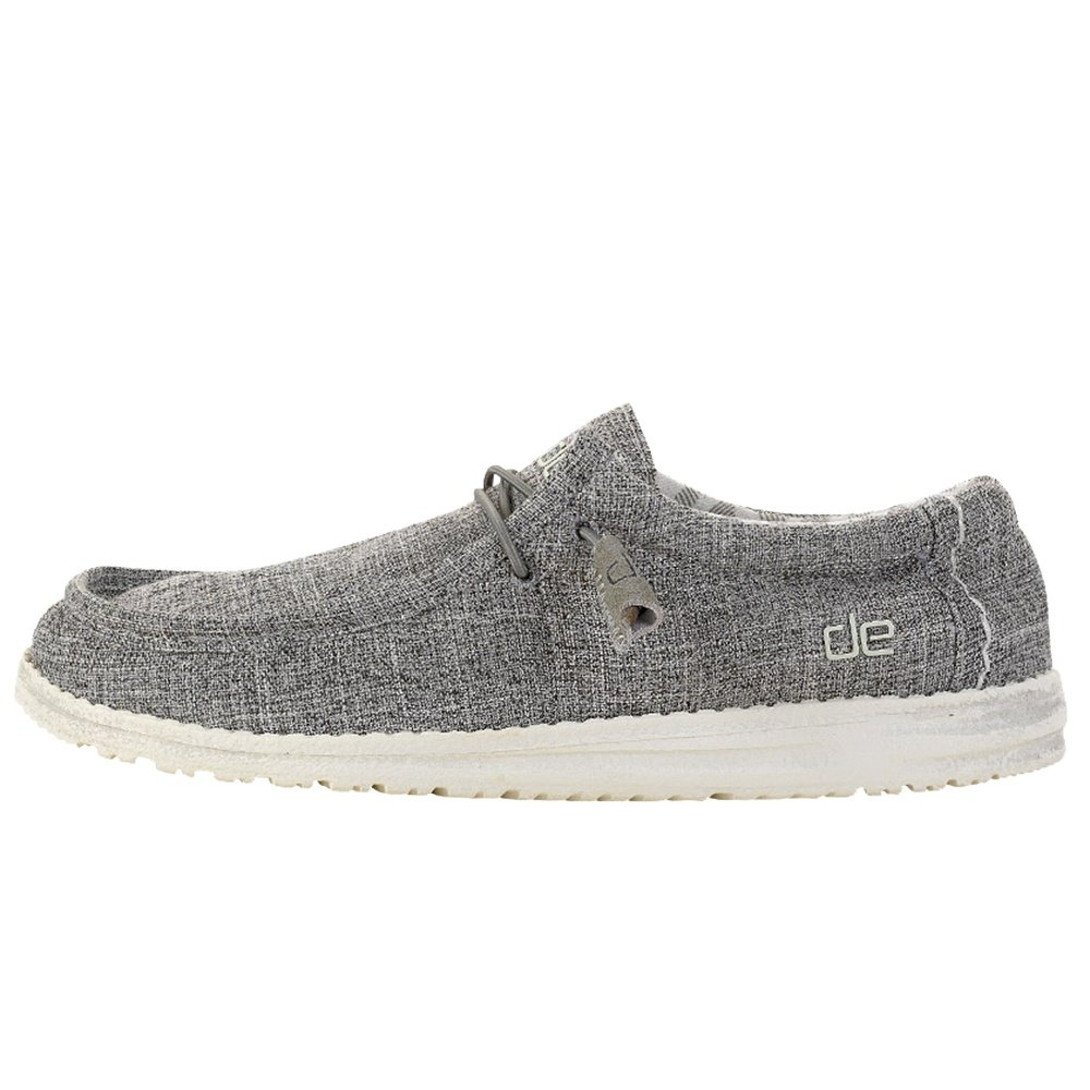 Hey Dude Wally Linen Shoe (Men's) - Iron