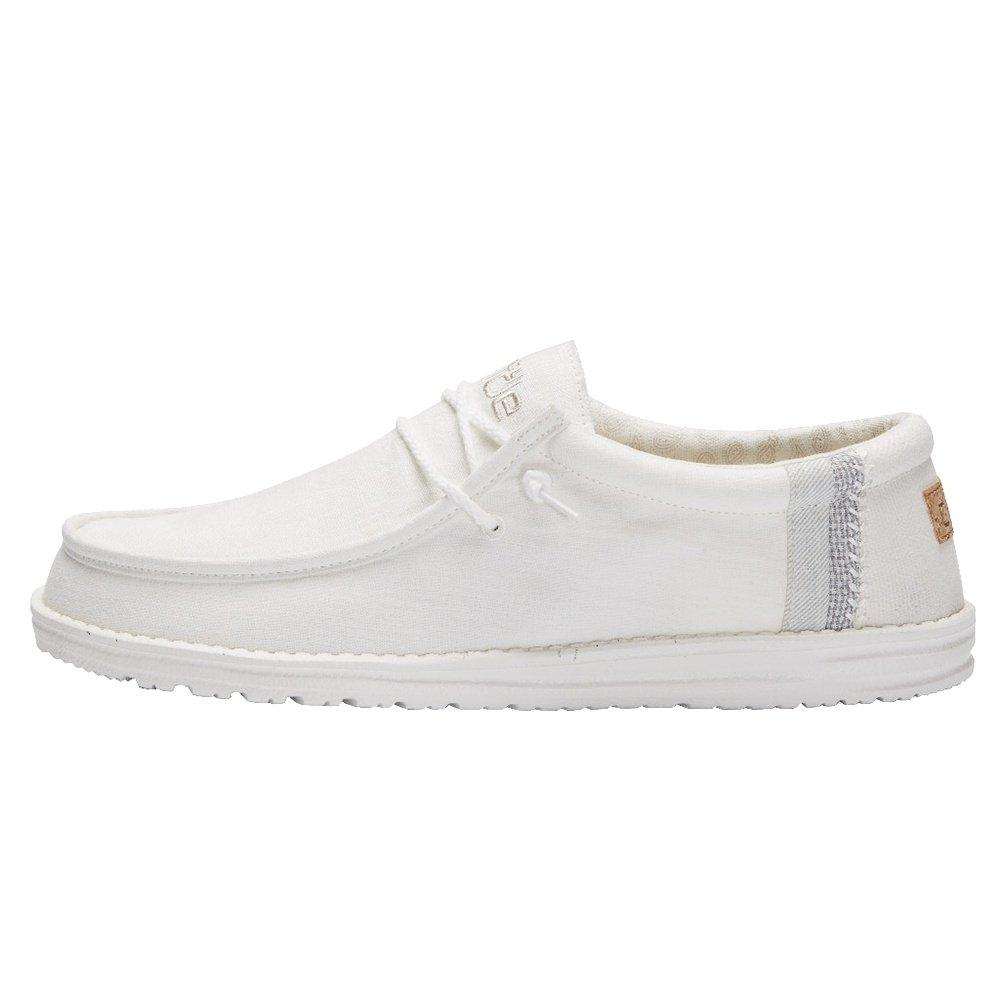 Hey Dude Wally Linen Shoe (Men's) - White