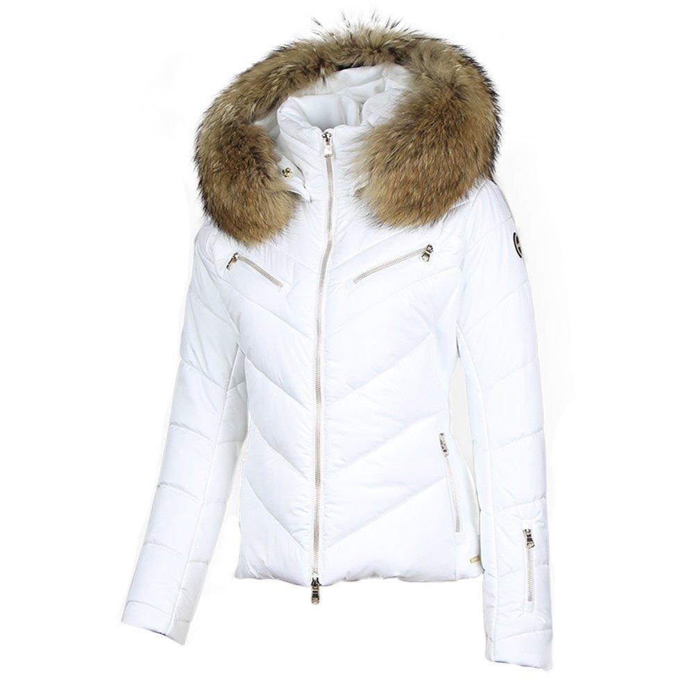 MDC Victoria Insulated Ski Jacket with Fur (Women's) - White