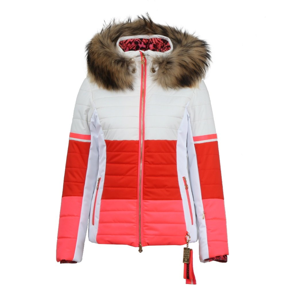 Sportalm Coco Stick Insulated Ski Jacket with Real Fur (Women's) - Turtledove