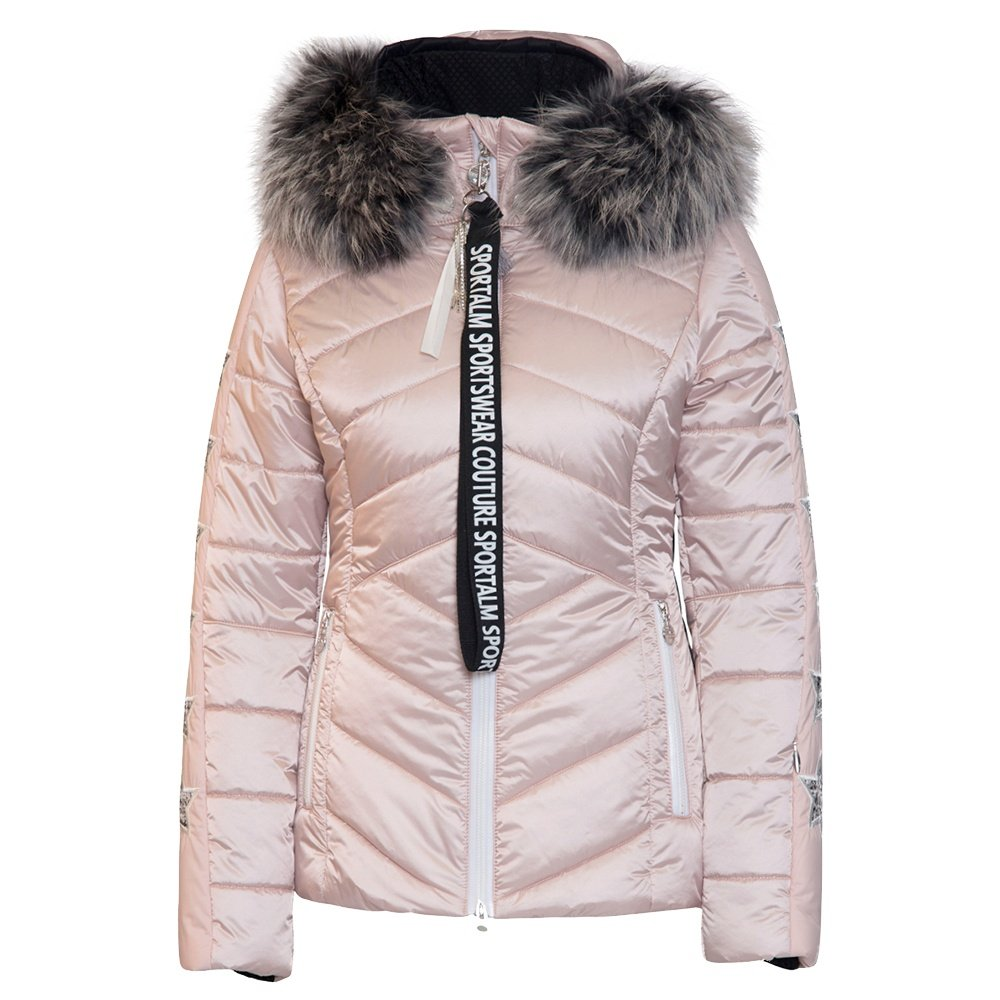 Sportalm Blanche Insulated Ski Jacket with Real Fur (Women's) - Sepia Rose