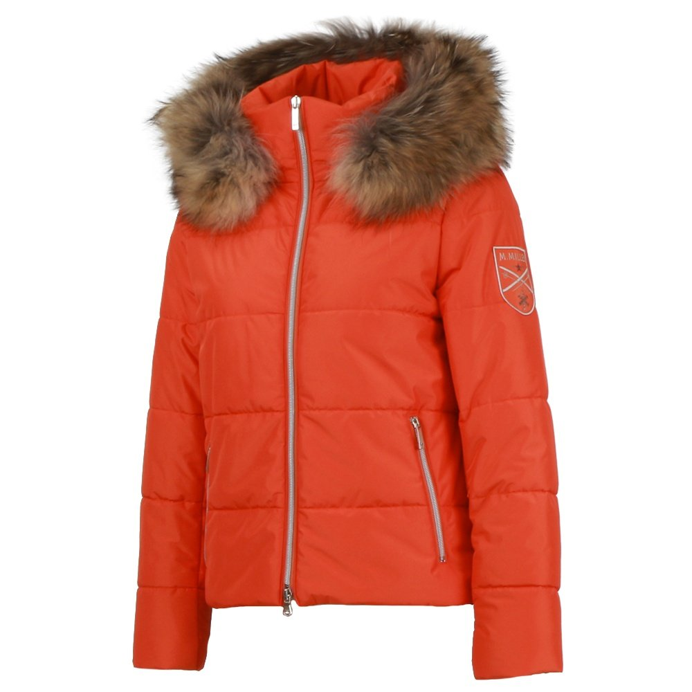 M. Miller Tess Insulated Ski Jacket with Real Fur (Women's) - Orange