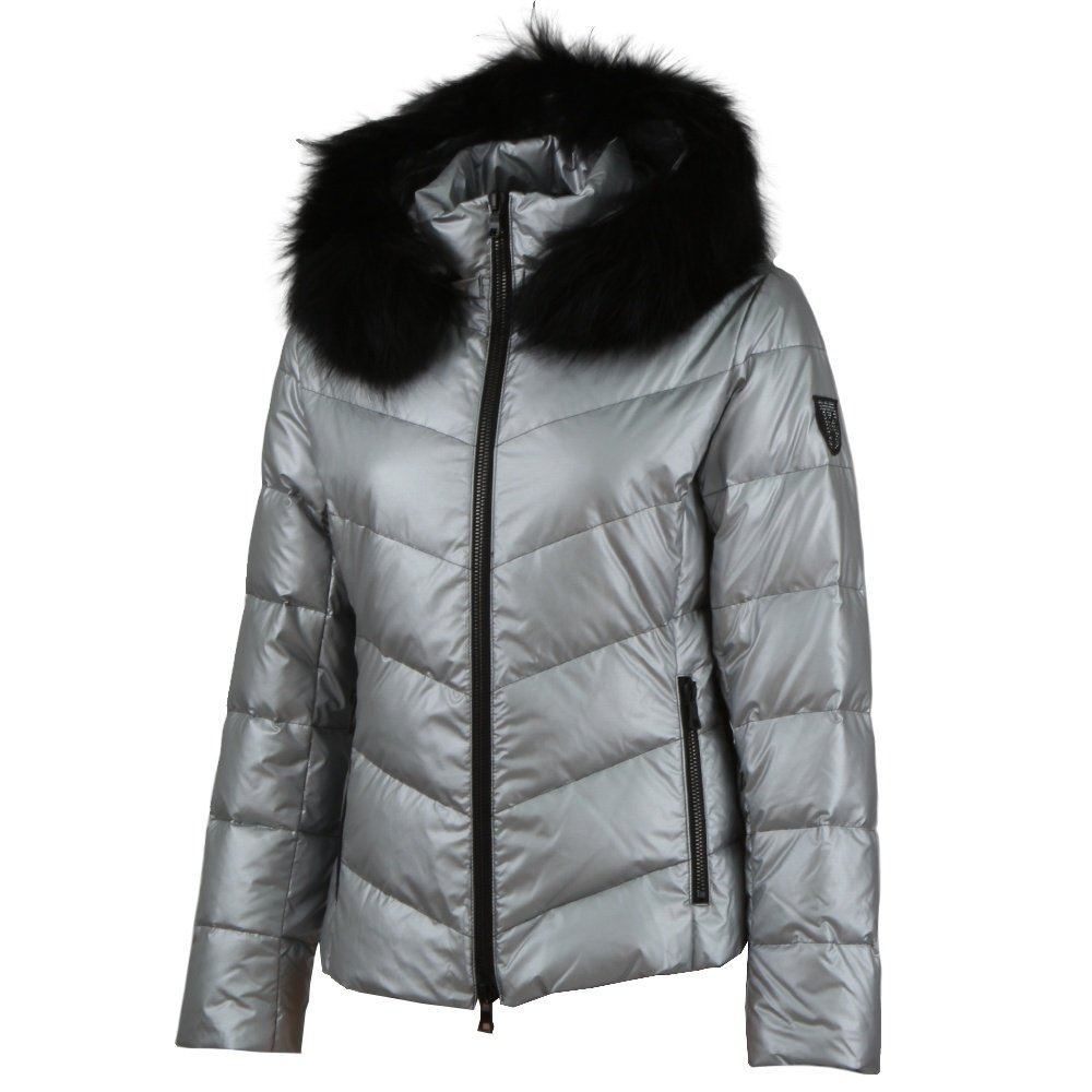 M. Miller Allise Down Jacket with Real Fur (Women's) - Silver