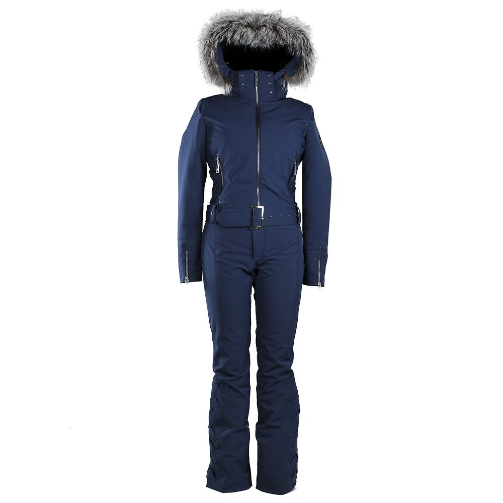 Skea Peyton Ski Suit with Real Fur (Women's) - Navy
