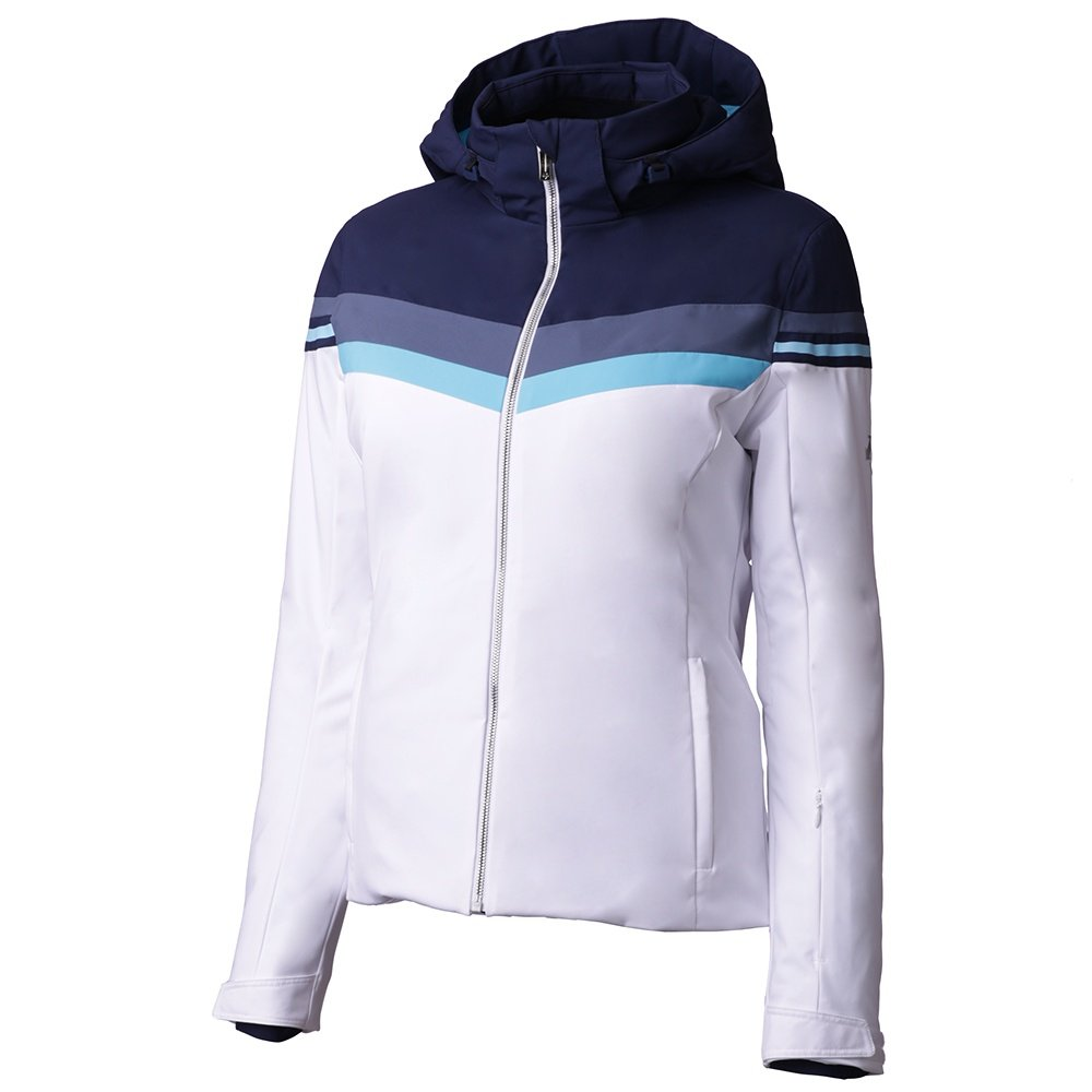 Descente Rowan Insulated Ski Jacket (Women's) - Super White/Dark Night/Midnight Shadow