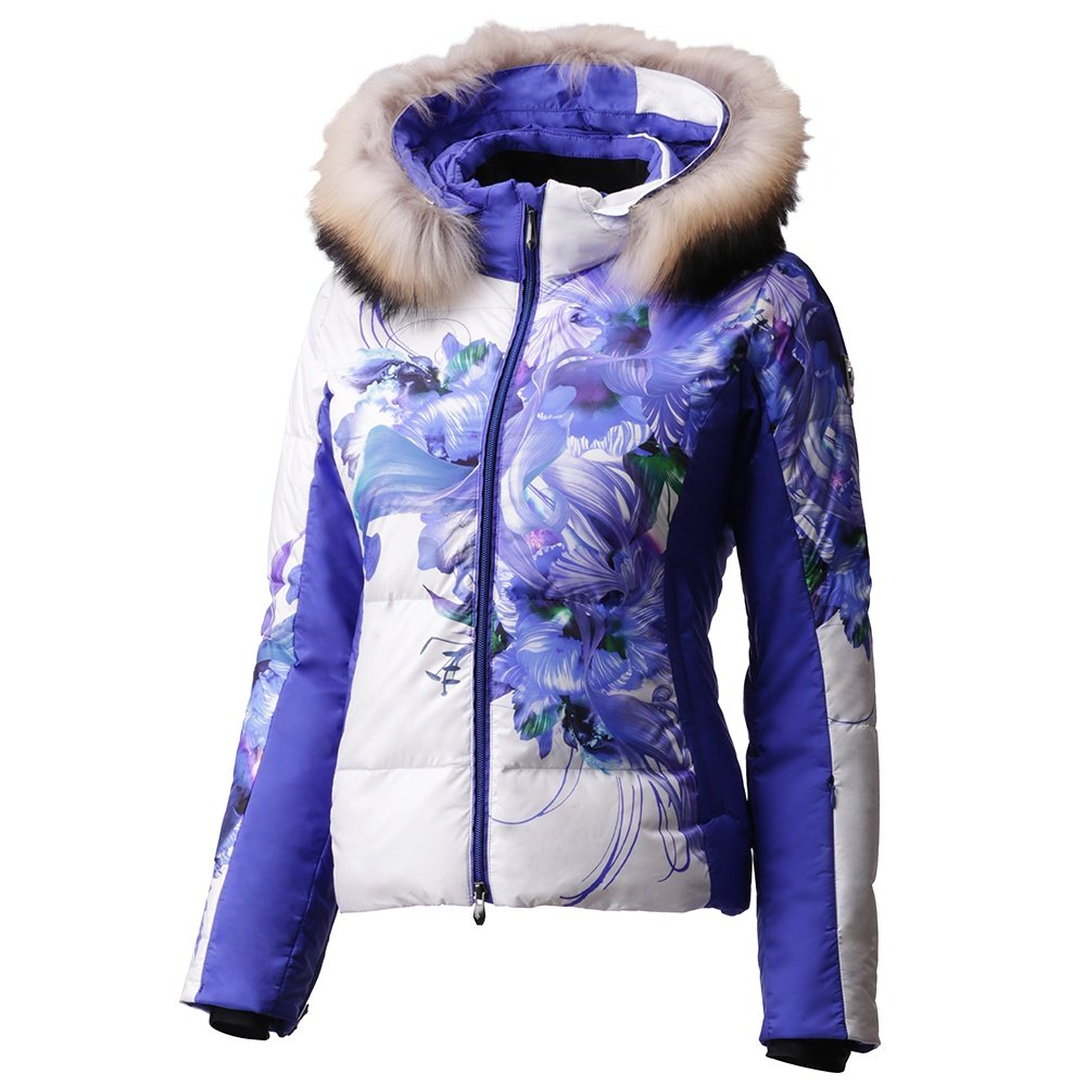 Descente Hana Down Ski Jacket with Real Fur (Women's) - Yuki White